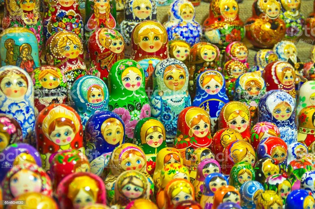 Matryoshka - traditional Russian souvenir stock photo