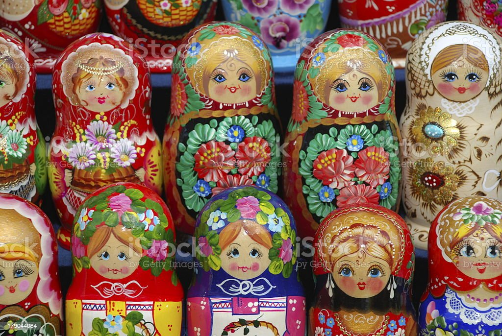Matryoshkas Background royalty-free stock photo