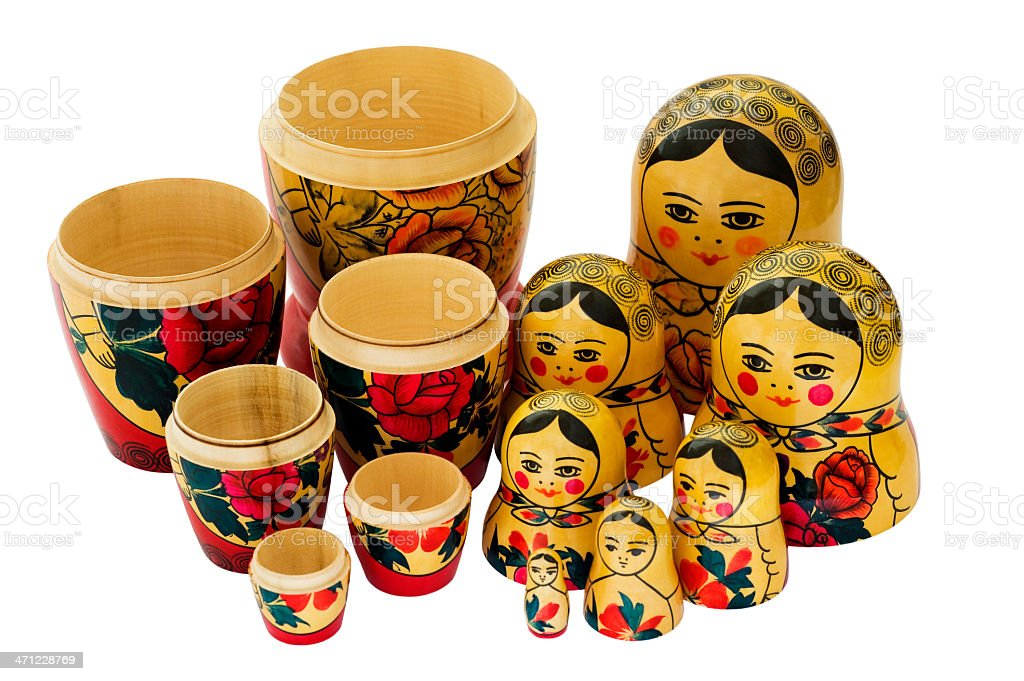 Matryoshkas royalty-free stock photo