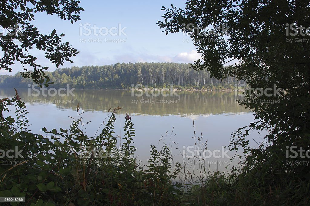 Matsqui Island on the Fraser River stock photo