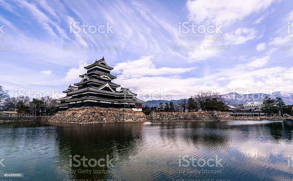 Matsumoto Castle and Moat, Japan stock photo