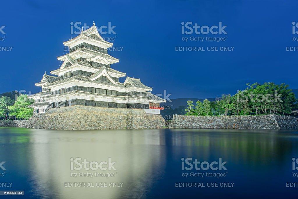 Matsumoto castle in Matsumoto city,Nagono, Japan stock photo