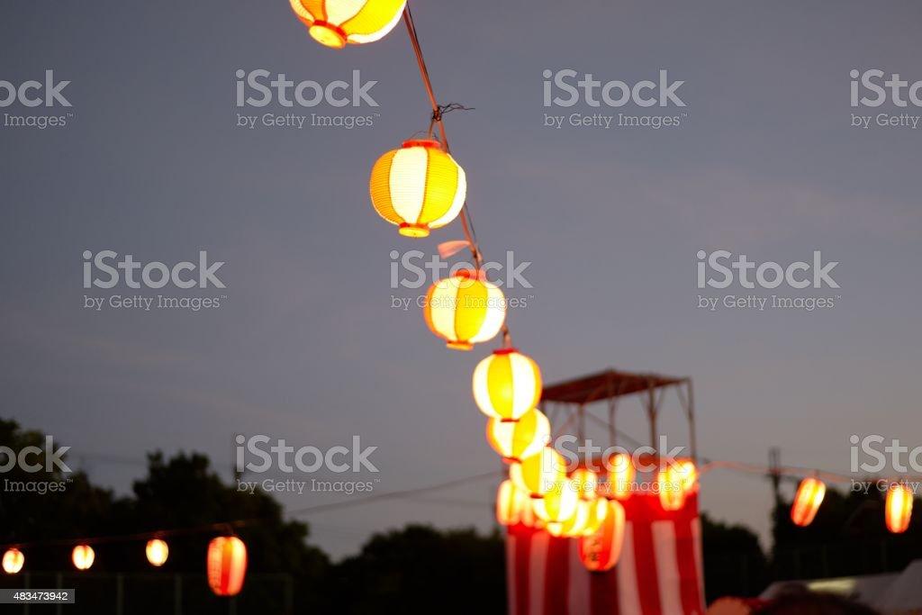 Matsuri season stock photo