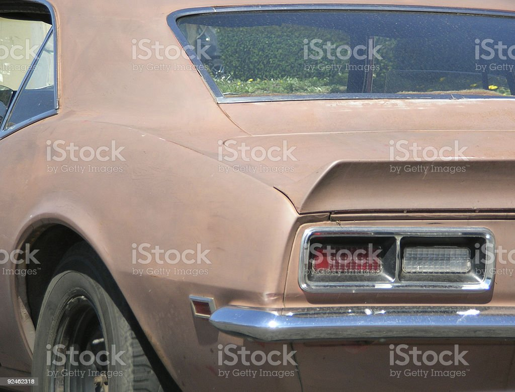 Matte brown classic car royalty-free stock photo