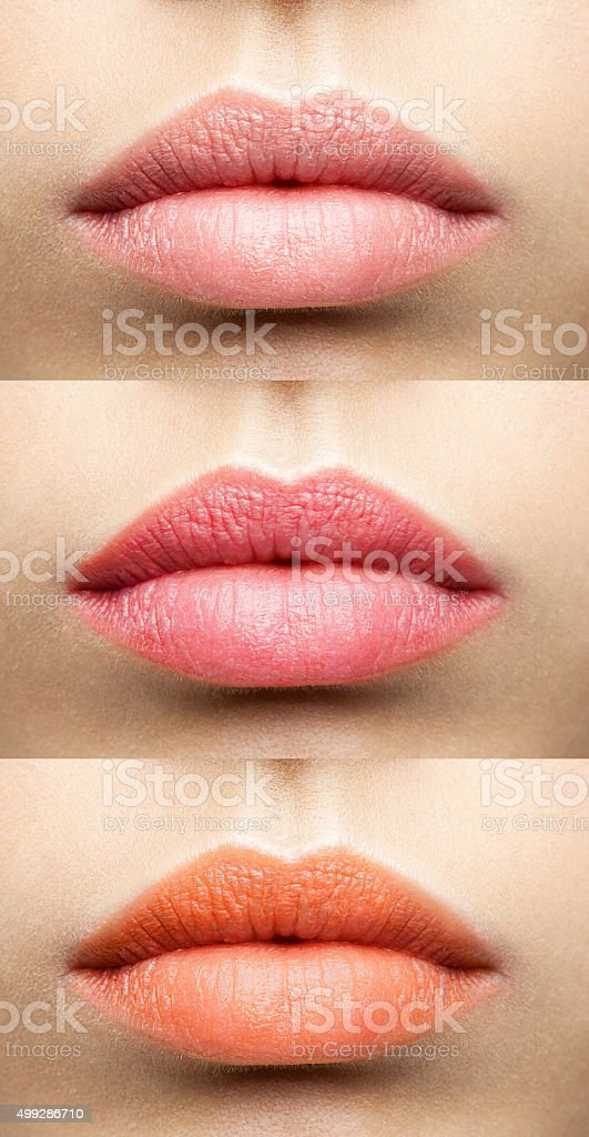 matte lips collection stock photo