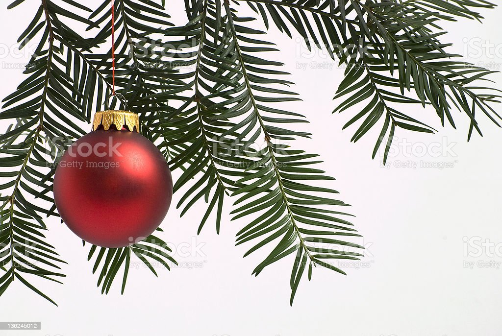 Matte Red Christmas Ball stock photo