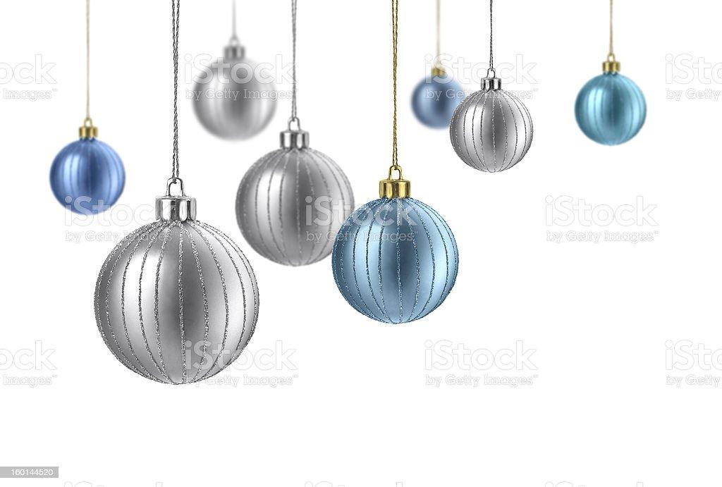 matte_color_christmas_balls stock photo
