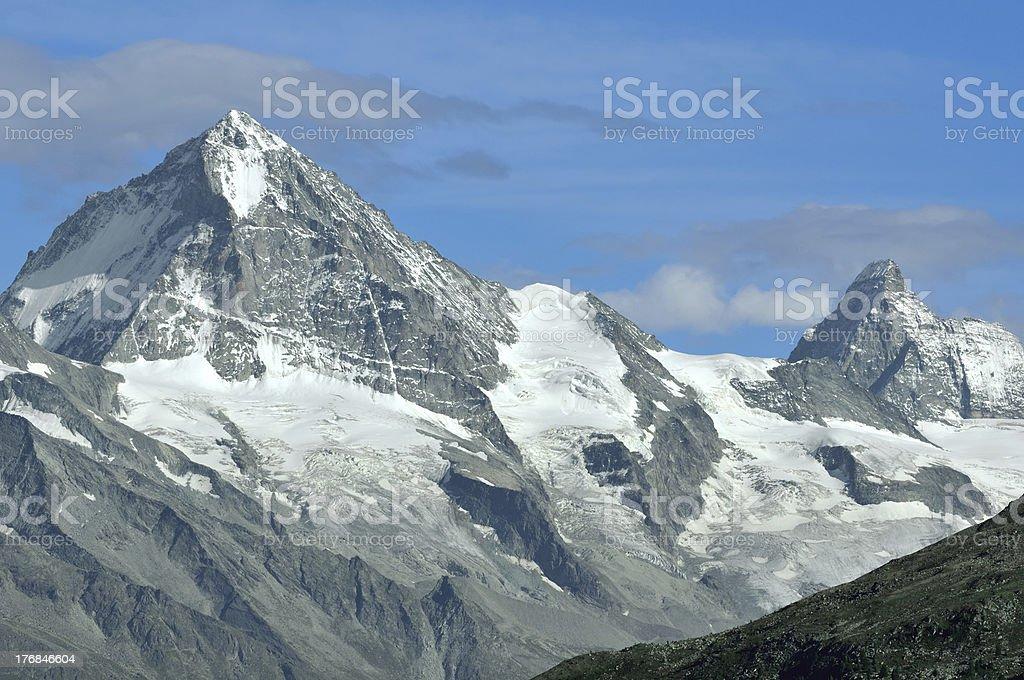 Matterhorn and Dent Blanche stock photo