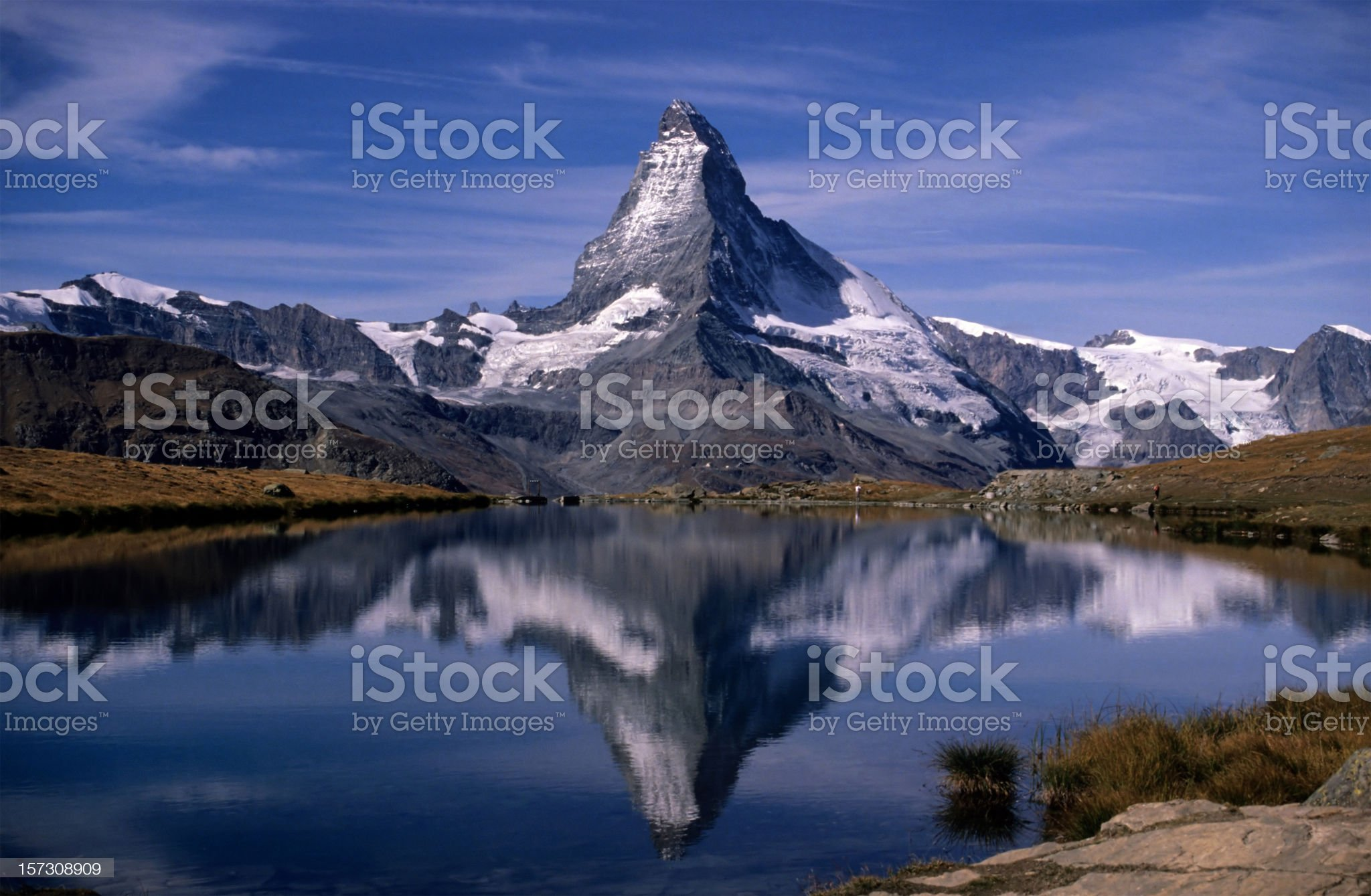 Matterhorn and Stellisee 2 royalty-free stock photo