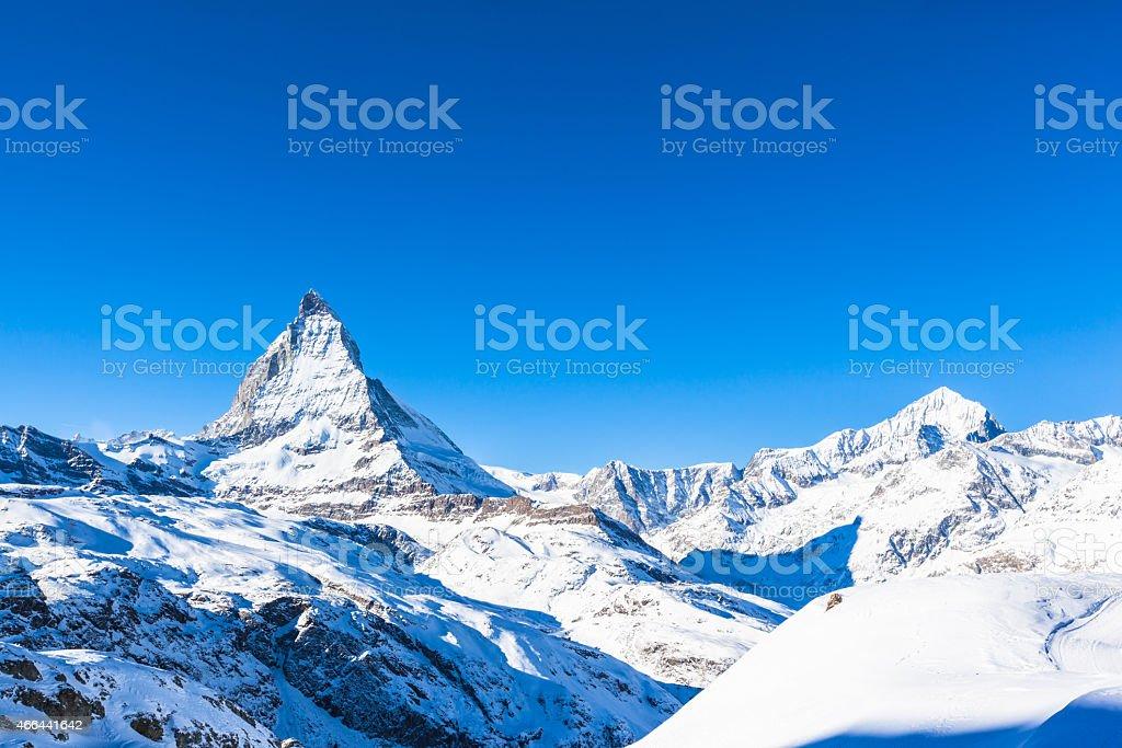 Matterhorn and Weisshorn stock photo