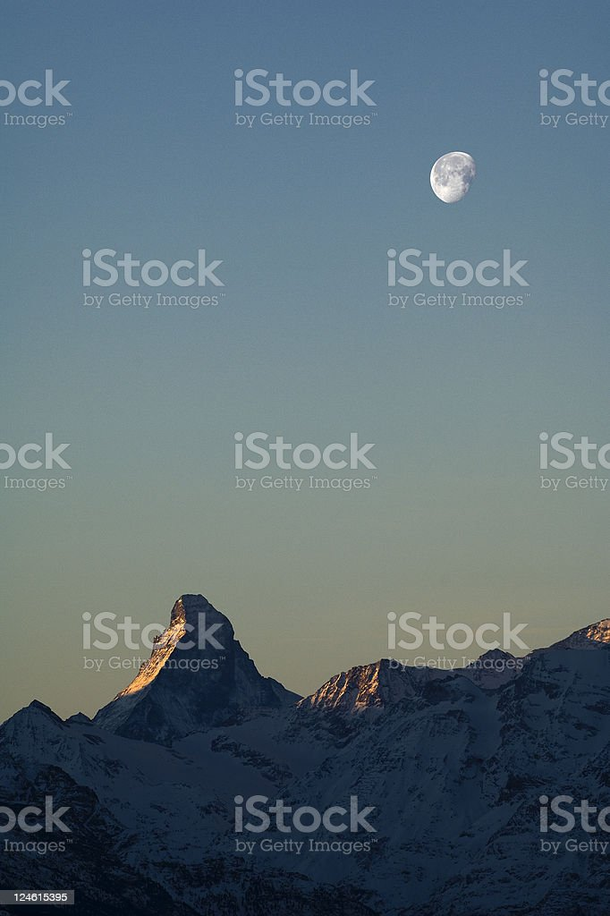 matterhorn at dawn stock photo