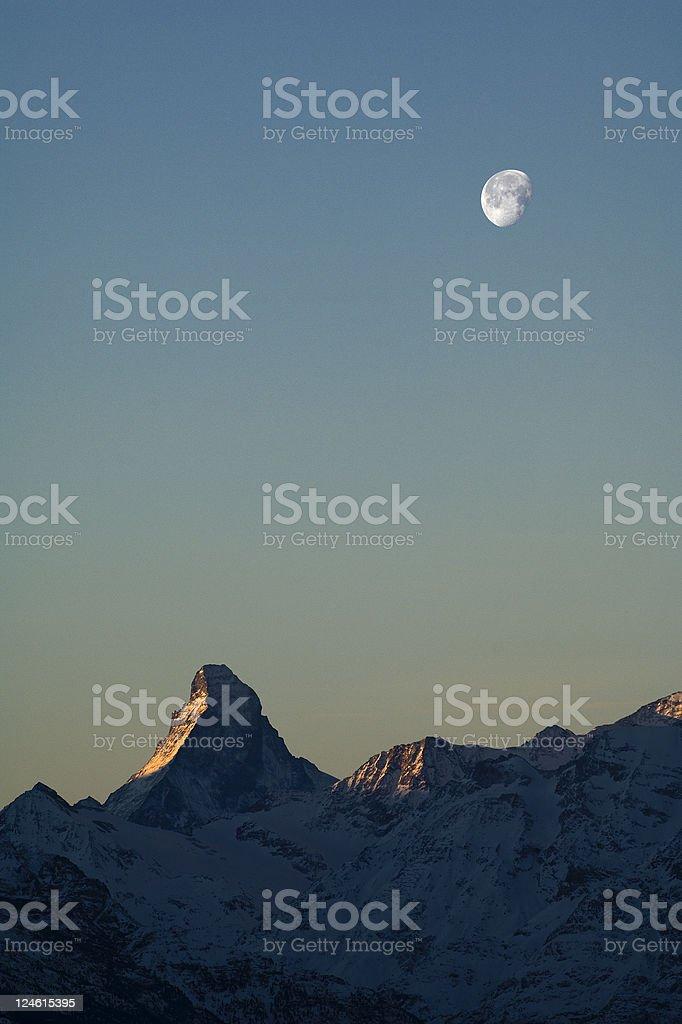 matterhorn at dawn stock photo