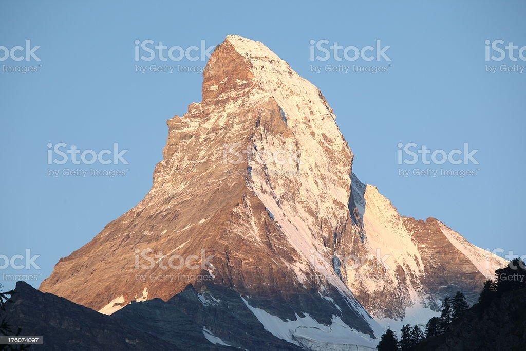 Matterhorn at sunrise royalty-free stock photo