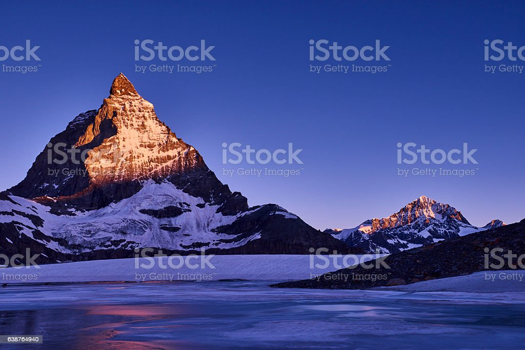 Matterhorn at Sunrise stock photo