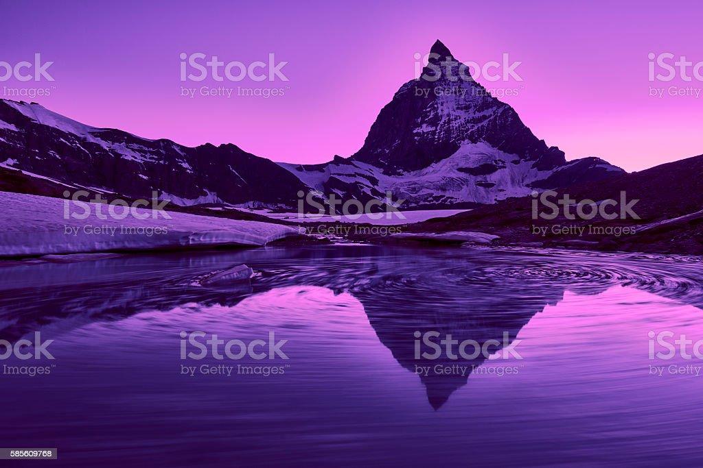 Matterhorn at Sunset. stock photo