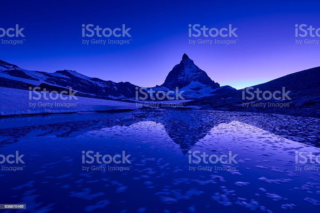 Matterhorn at Sunset stock photo
