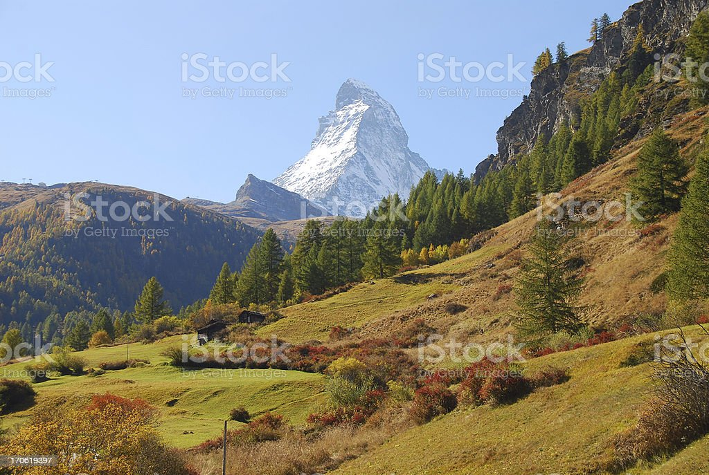 Matterhorn at Zermatt royalty-free stock photo
