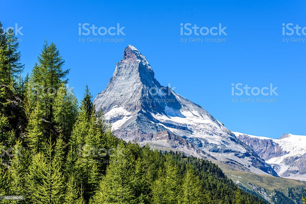 Matterhorn - beautiful landscape of Zermatt, Switzerland stock photo
