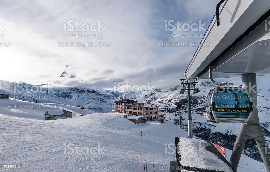 Matterhorn from Riffelberg, Switzerland stock photo