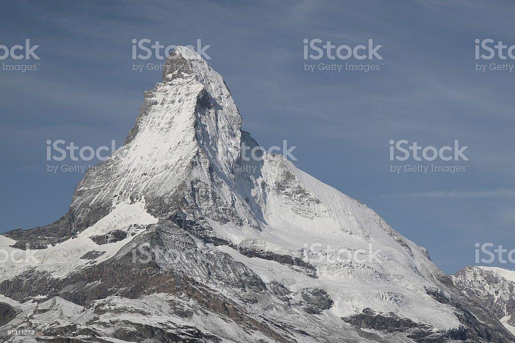 Matterhorn from Sunnegga Paradise, Valais, Switzerland stock photo