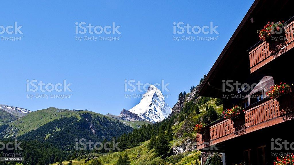 Matterhorn from Zermatt royalty-free stock photo