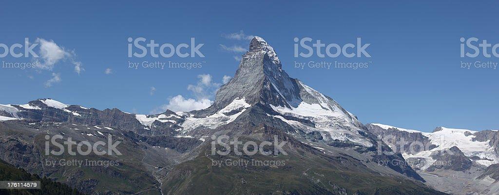 Matterhorn from Zermatt Switzerland royalty-free stock photo