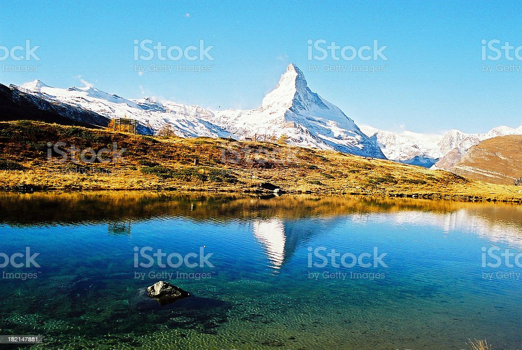 Matterhorn in Lake royalty-free stock photo