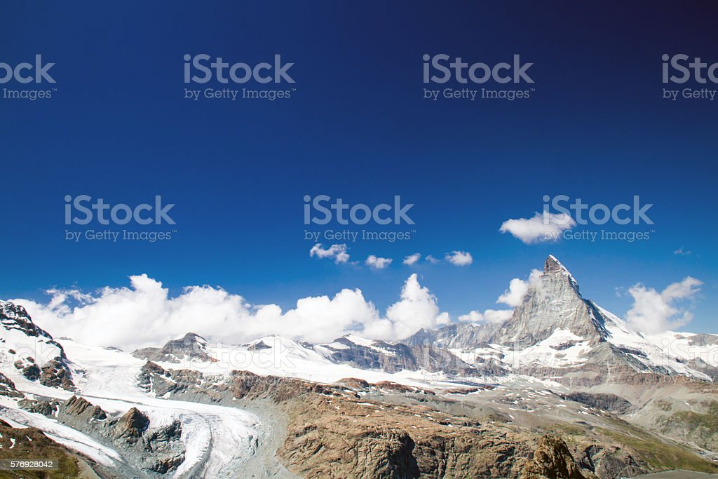 Matterhorn in the swiss alps stock photo