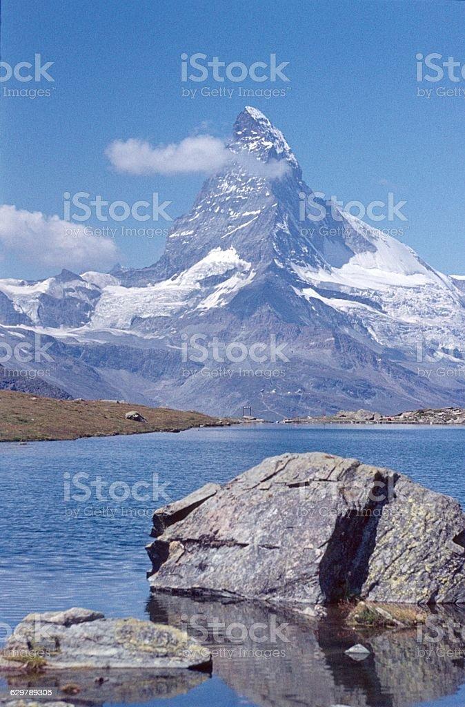 Matterhorn, Italy,1973 stock photo