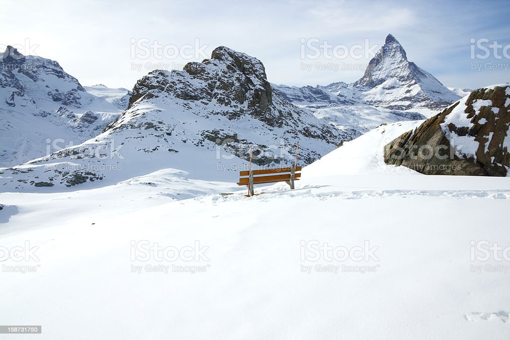 Matterhorn landscape royalty-free stock photo