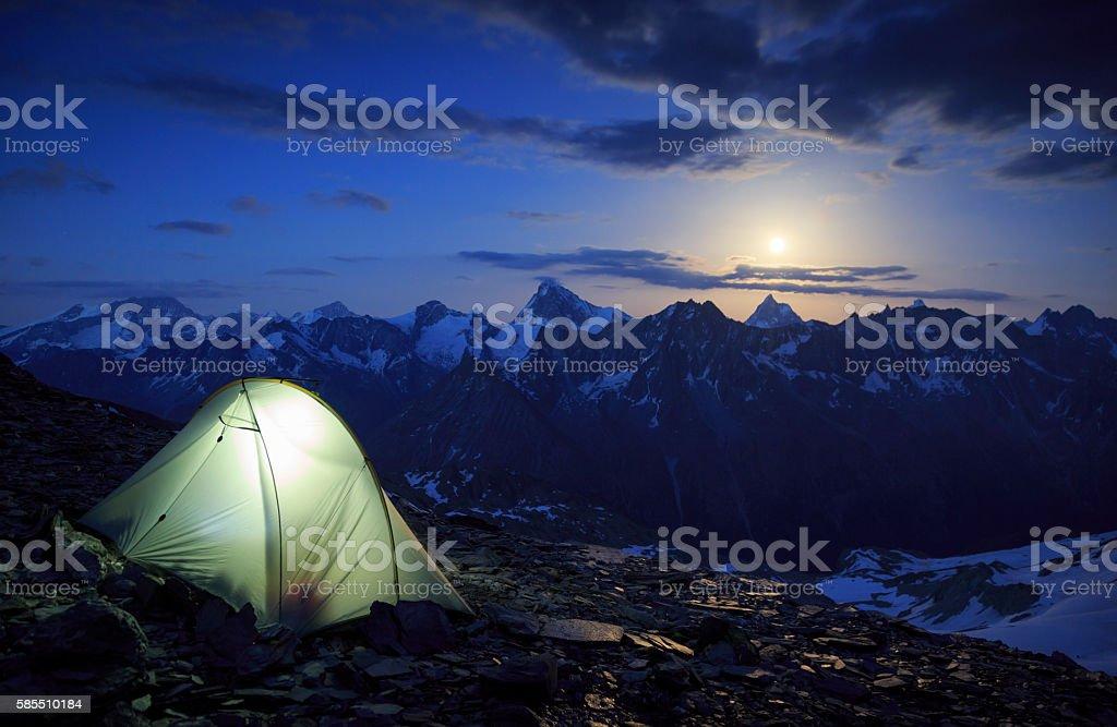 Matterhorn moon stock photo