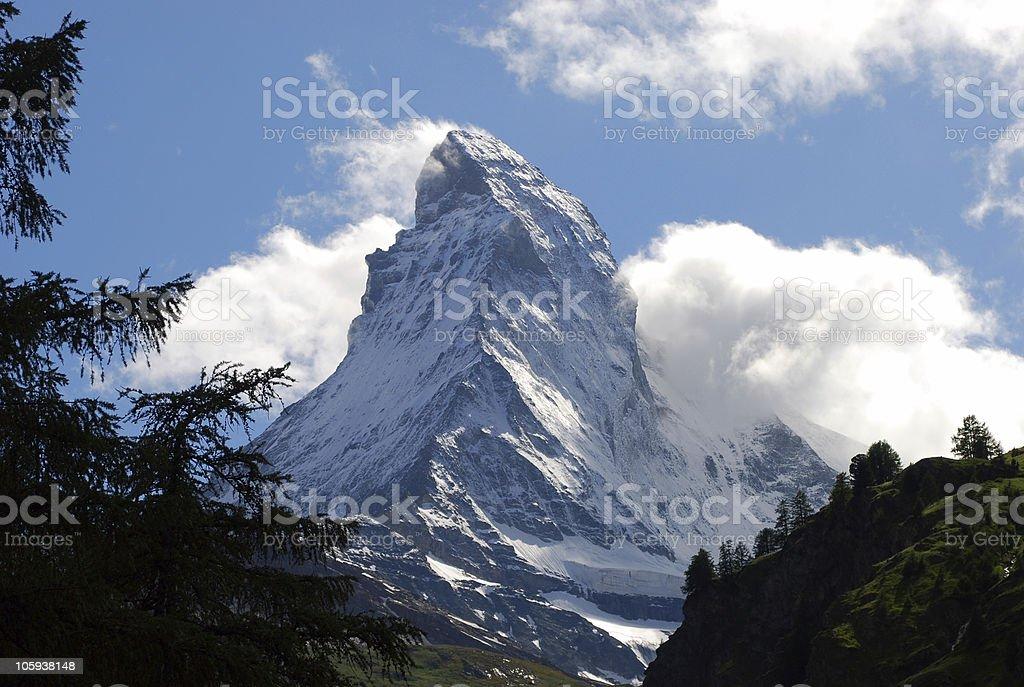 Matterhorn mountain in Switzerland royalty-free stock photo