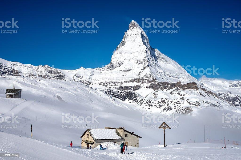 Matterhorn mountain Peak stock photo