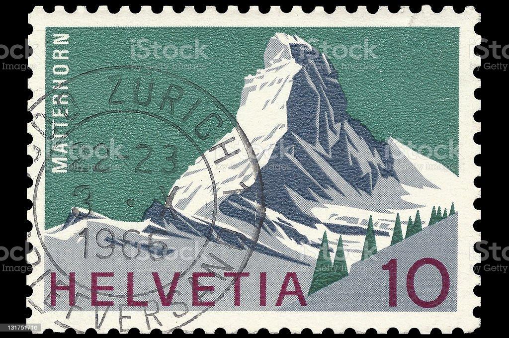 Matterhorn mountain stamp stock photo