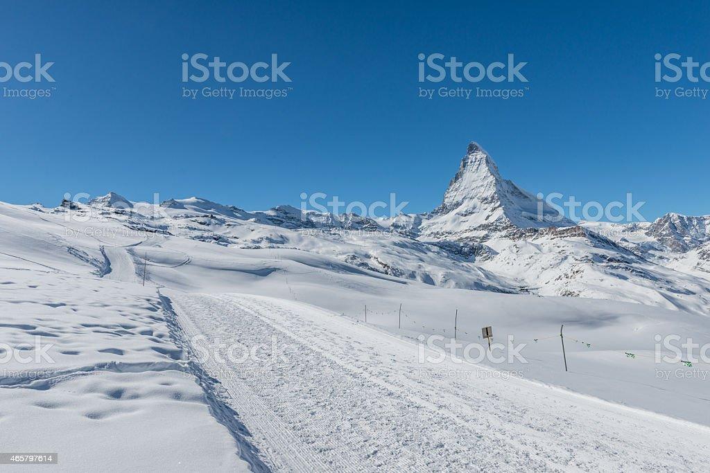 Matterhorn Mountain, Switzerland stock photo