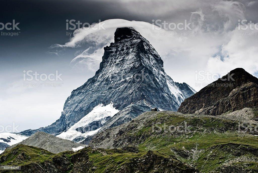 Matterhorn mountain view stock photo