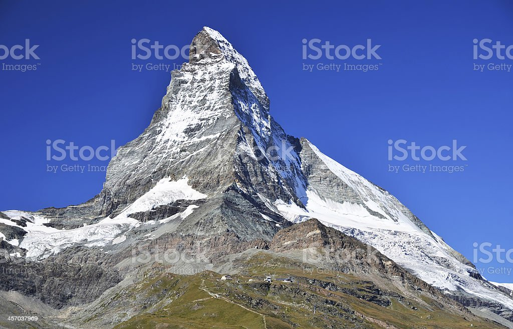 Matterhorn mountains in Alps, Switzerland stock photo