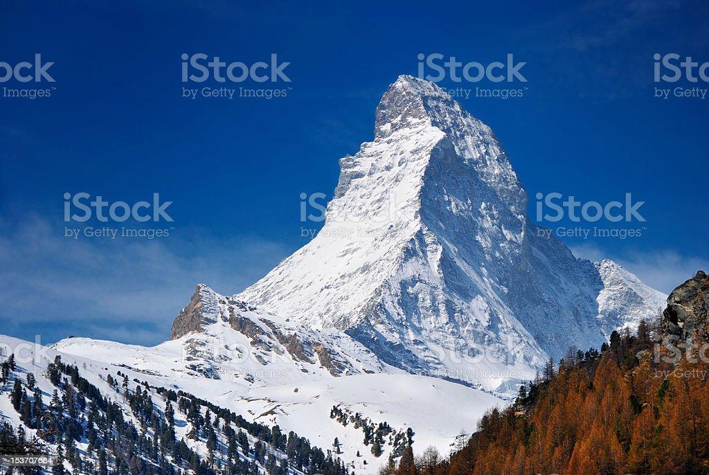 Matterhorn of switzerland stock photo
