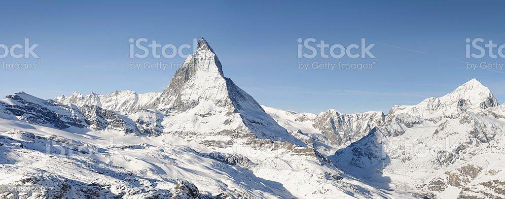 Matterhorn Panorama royalty-free stock photo