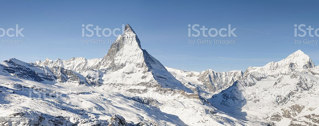 Matterhorn Panorama stock photo
