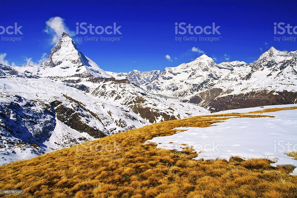 Matterhorn peak Alp Switzerland royalty-free stock photo