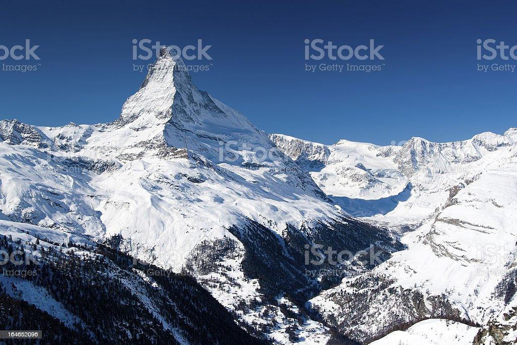 Matterhorn peak, Zermatt, Switzerland royalty-free stock photo