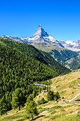 Matterhorn - small village in beautiful landscape of Zermatt, Switzerland