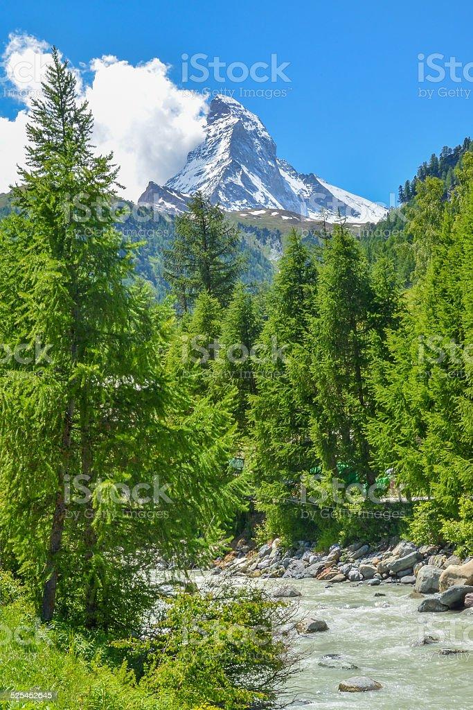 Matterhorn, Swiss Alps stock photo
