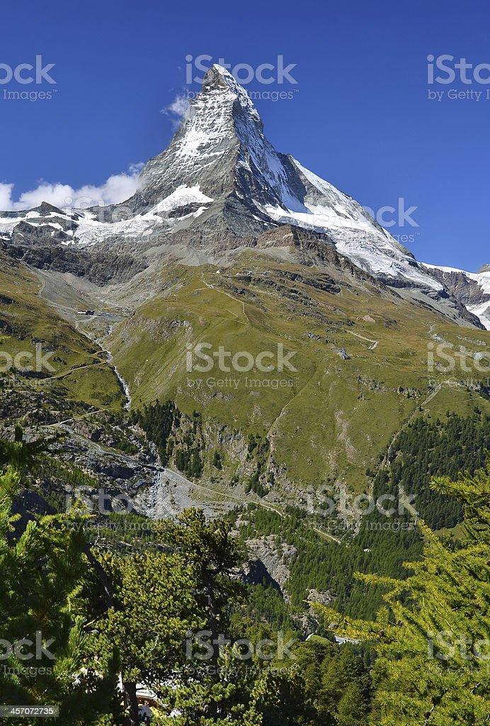 Matterhorn (Monte Cervino), Switzerland Pennine Alps stock photo