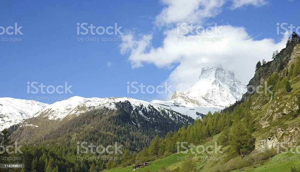 Matterhorn, Zermatt Switzerland stock photo