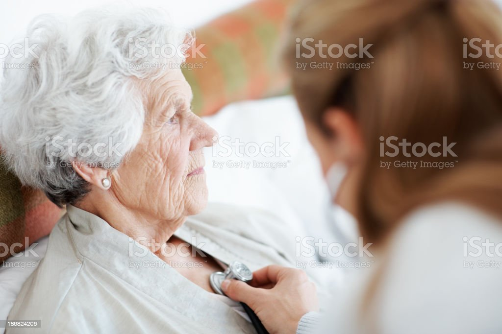 Matters of the heart - Senior Care stock photo