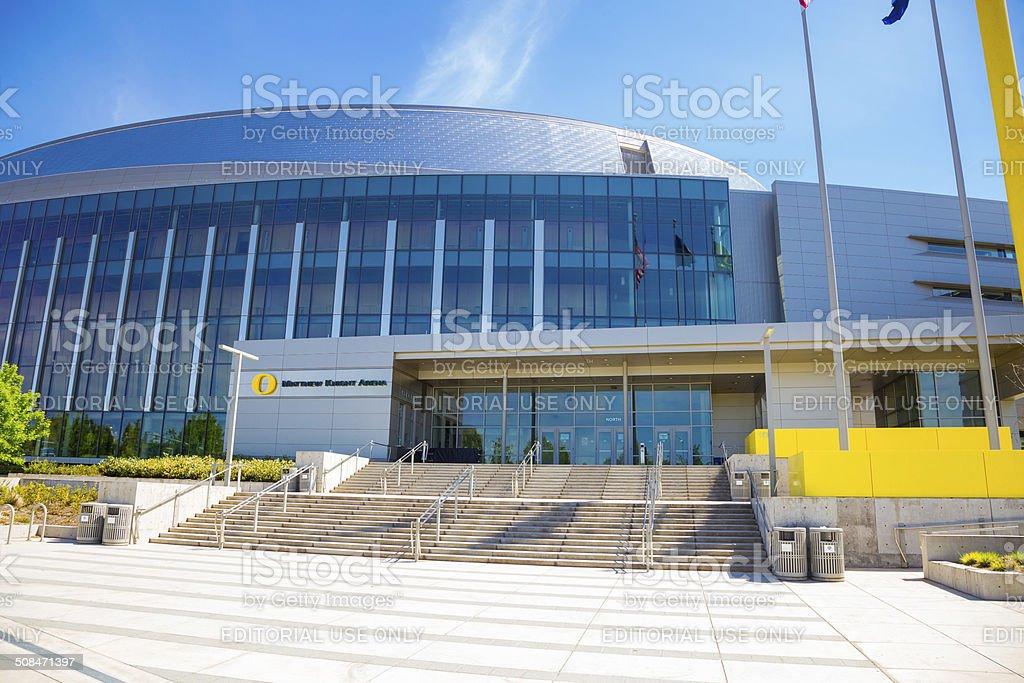 Matthew Knight Basketball Arena at the University of Oregon stock photo