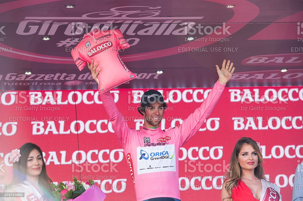 Matthews Michael wearing Pink Jersey stock photo
