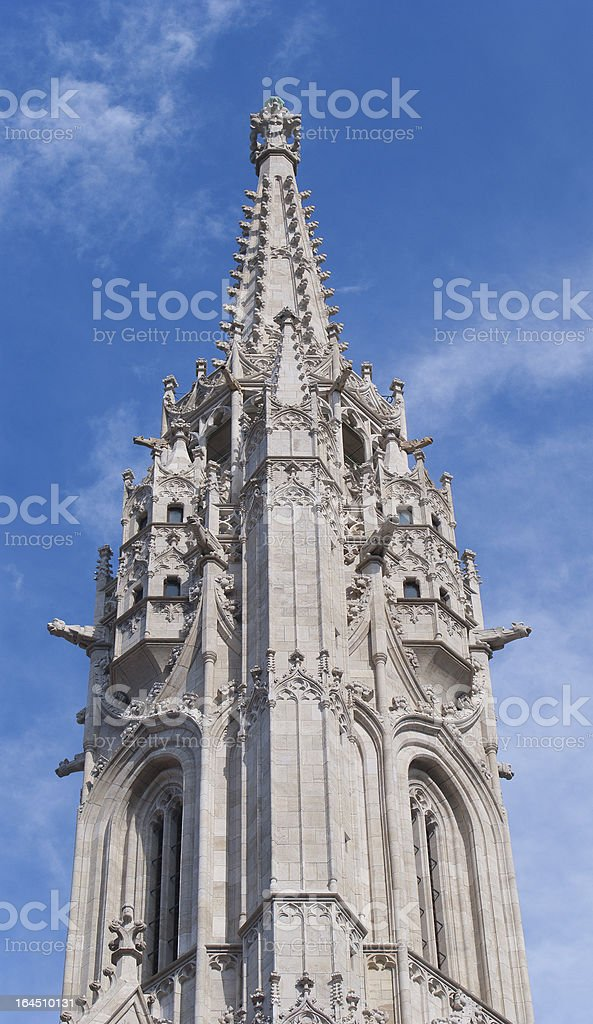 Matthias Church at Buda Castle in Budapest, Hungary royalty-free stock photo